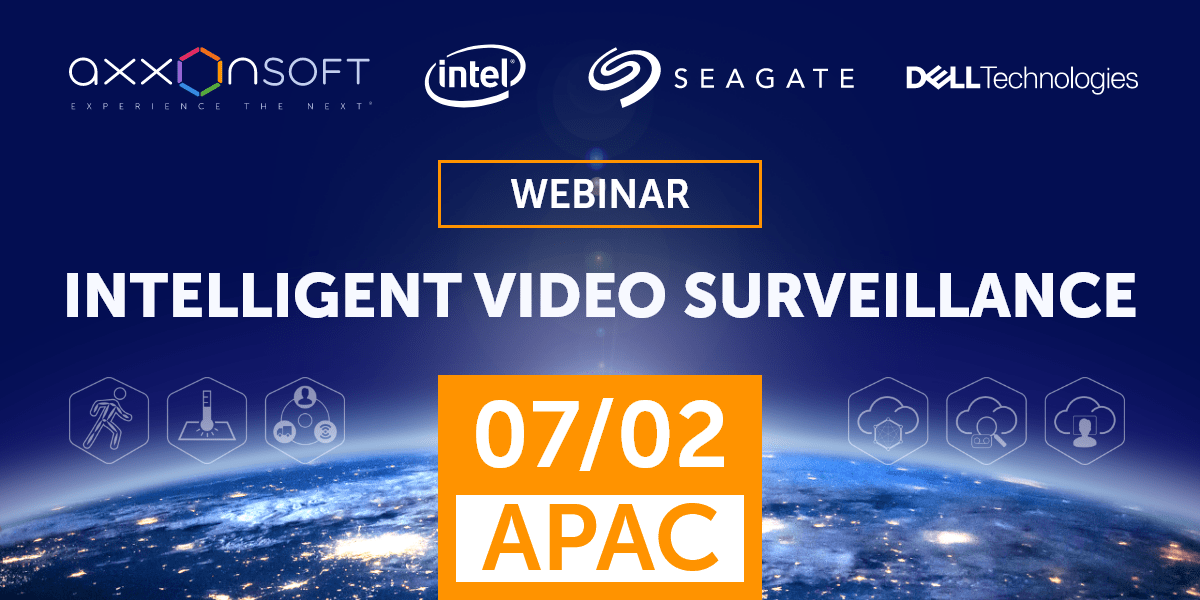 Welcome to APAC webinar on intelligent video surveillance